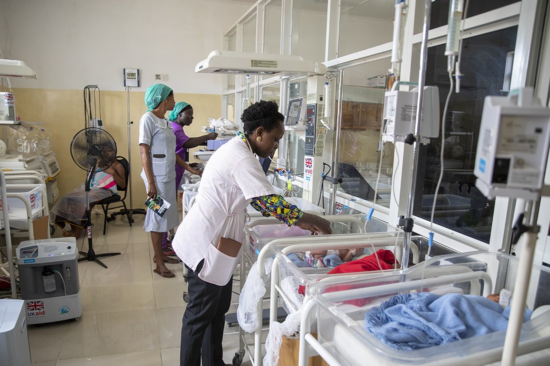 maternal and neonatal ward in Bo Government Hospital in Sierra Leone