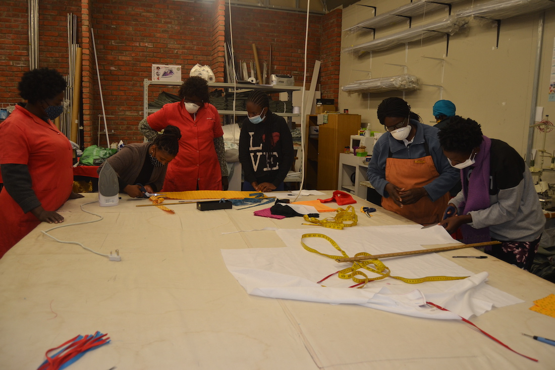 DREAMS girls sewing masks in Namibia
