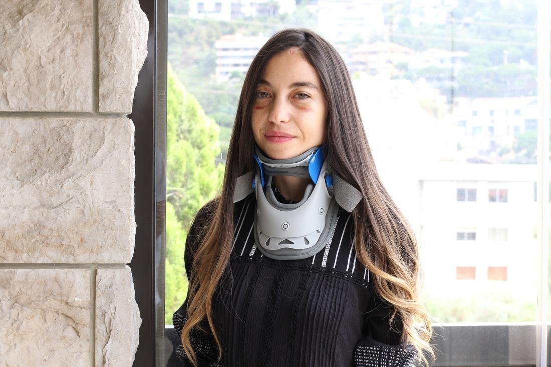 Clara Chammas after the Beirut explosion